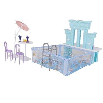 Puppenhaus Miniatur-Möbel Swimmingpool Für Barbie Eingestellt ...