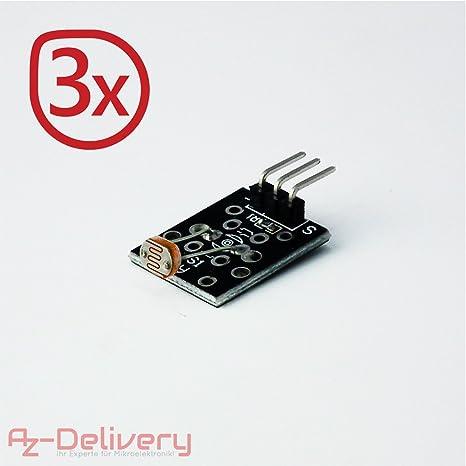 AZDelivery Condensadores de cerámica para los cabezales de láser diodo y sensores láser 3x IR Empfänger Sensor: Amazon.es: Informática