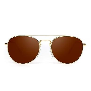 JIMHALO Klar Flieger Sonnenbrille Klassisch Flach Getönt Linse Metall Brillen Damen Herren(Silber/Gradient Grau) Flieger cO8YfGn