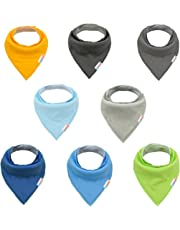 ALVABABY Baby Bandana Drool Bibs For Boys 8 Pack Super Absorbent Baby Gift Settings 8SD11-CA
