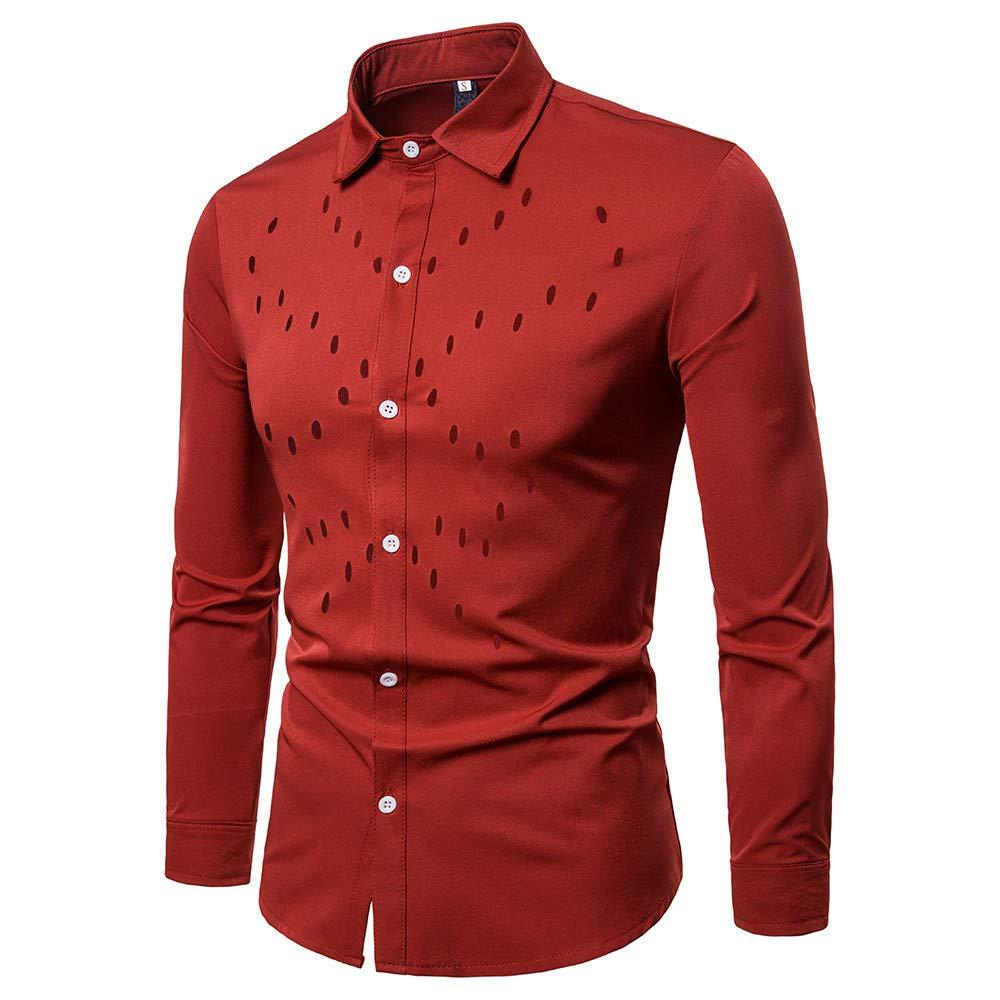 Blusa de Hombre, BaZhaHei, Camisetas de Solapa de Manga Larga con Cuello en Color sólido para Hombres Camisas Casual de Manga Larga para Hombre Camisa de ...