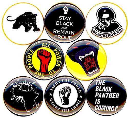 (BLACK PANTHER PARTY #3 8 NEW 1 Inch (25mm) Set of 8 Pinback Buttons Badges Pins 1