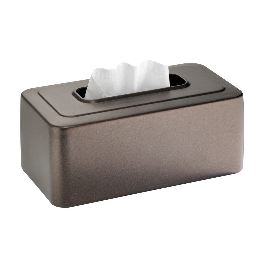 amazoncom interdesign cameo facial tissue box coverholder for bathroom vanity countertops bronze home u0026 kitchen