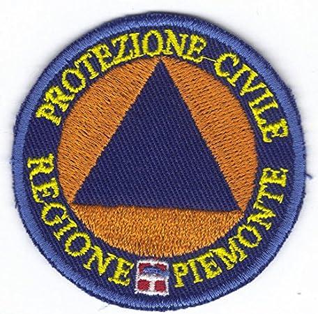 Marel - Parche de protección civil Regia Piemonte 6 cm parche bordado -070p: Amazon.es: Hogar