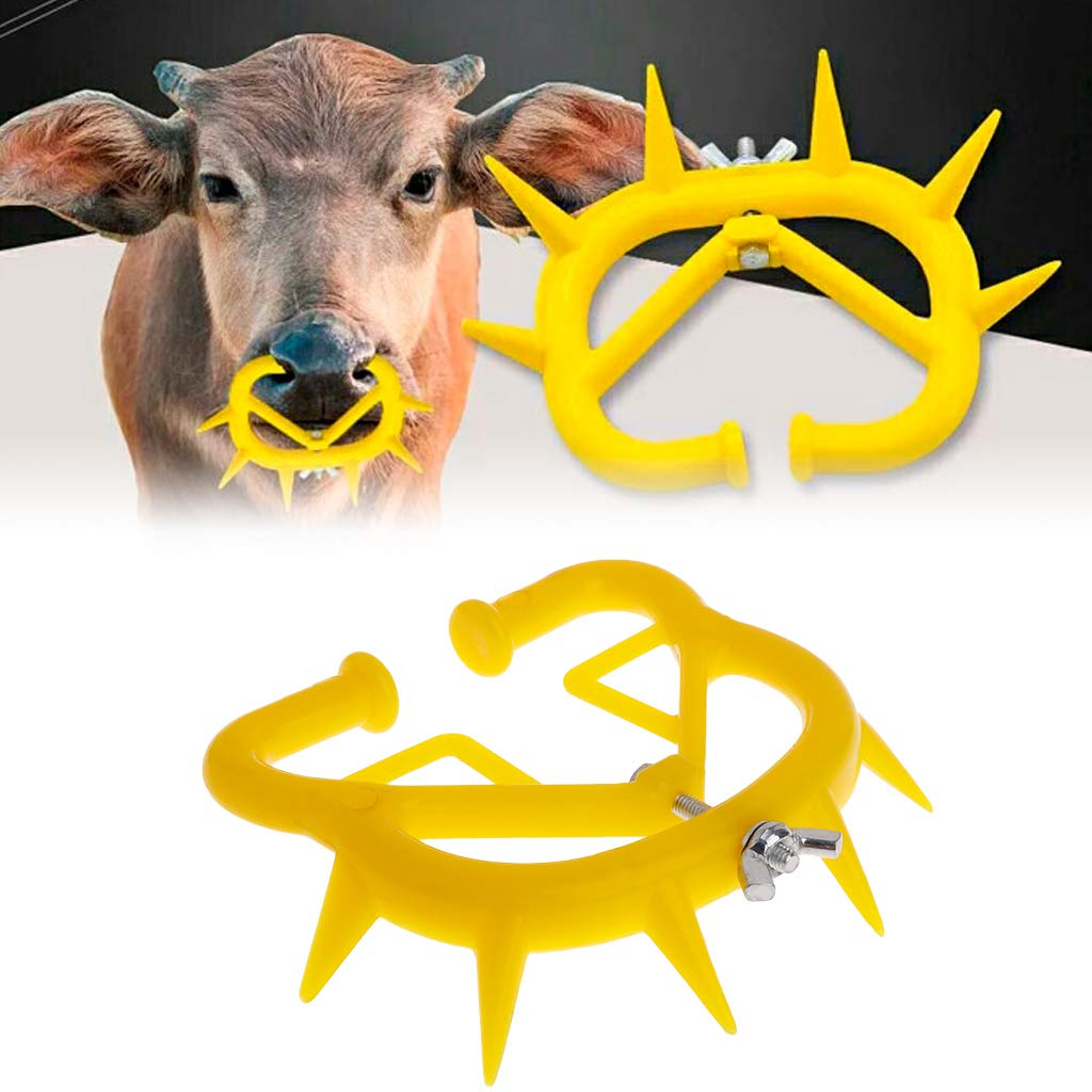 Abicial 50 Pcs Cattle Nose Thorn Weaning Tool, Plastic Nose Ring, Calf Weaner, Anti Sucking Milking Stop Kit by Abicial
