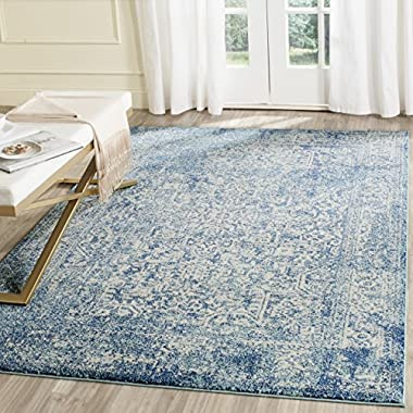 Safavieh Evoke Collection EVK256C Blue and Ivory Area Rug (4' x 6')