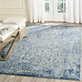 "Safavieh Evoke Collection EVK256C Vintage Oriental Blue and Ivory Area Rug (5'1"" x 7'6"")"