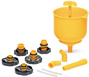Eastwood Easy Filling Coolant System Fill Kit Spill Proof 5 Adapter Caps