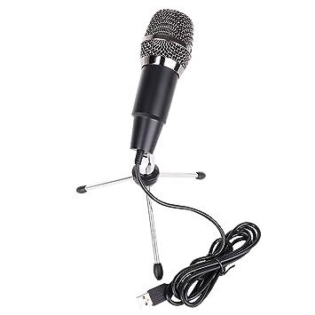 Migavan Home Studio Mini micrófono Condensador USB portátil con Funda de Esponja para trípode para PC Ordenador portátil Youtube Google Búsqueda por Voz ...