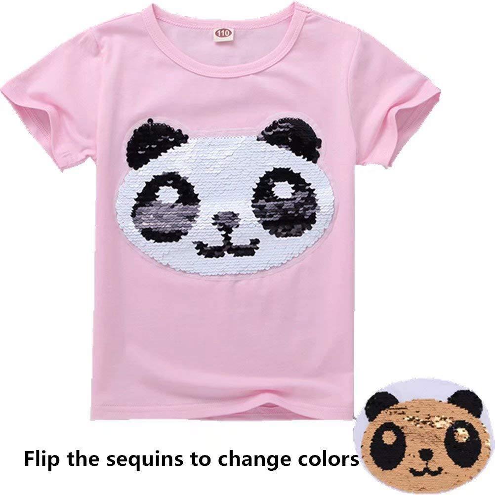 Tsyllyp Girls Children Kids Magic Sequin T-Shirt Cotton Pullover Tops