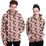 THENICE Neutral Long Sleeve Hoodies Sweatshirts lover Couples suits (XXL, Surprised)
