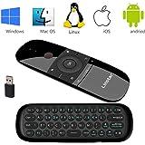 Tastiera wireless, Linstar H18 Mini tastiera da 2,4 GHz con Touchpad completo con touch pad grande Telecomando per Smart TV TV Android Box PC Laptop