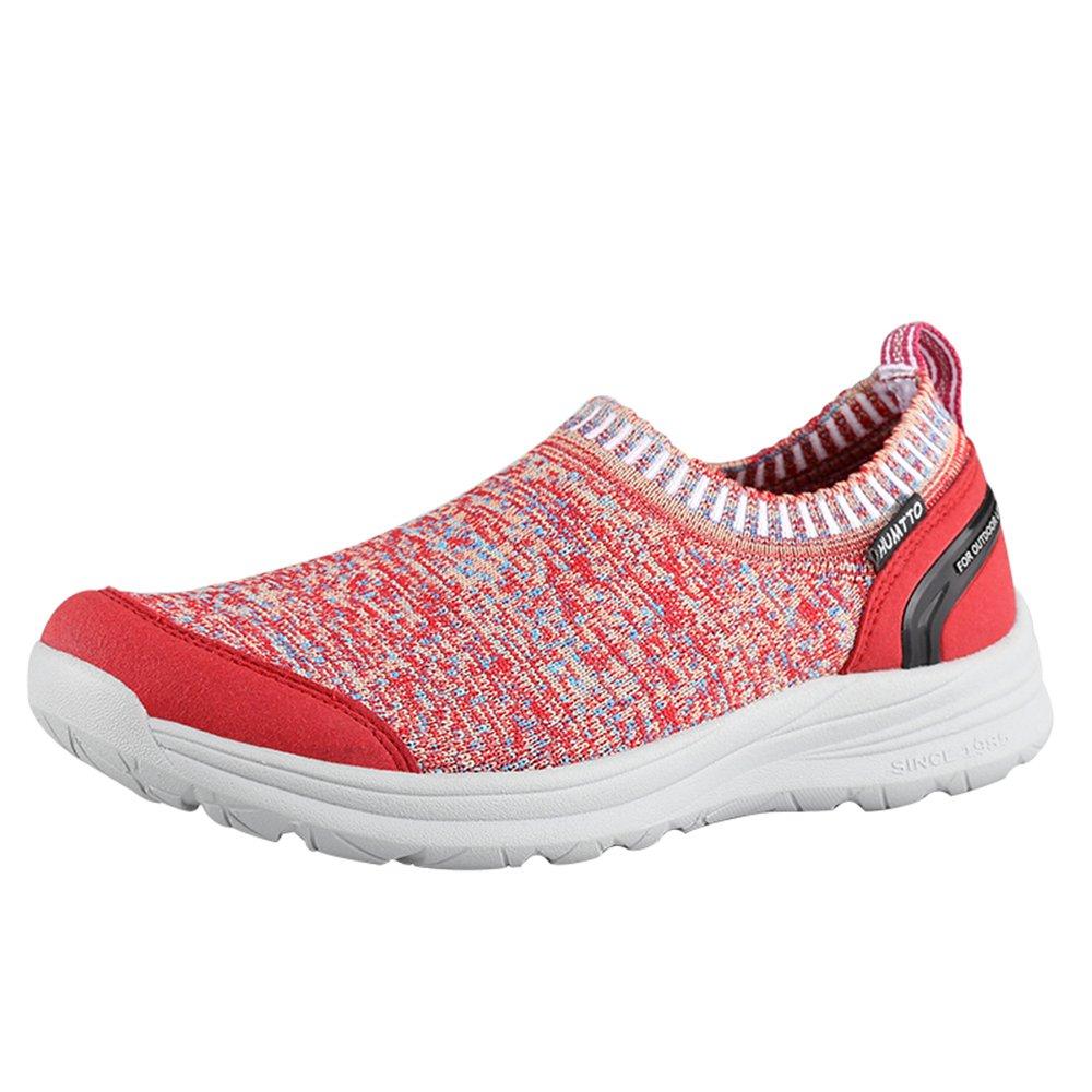 Sunjcs - Zapatillas de Running de Sintético para Hombre 40 EU Red Yarn(women)