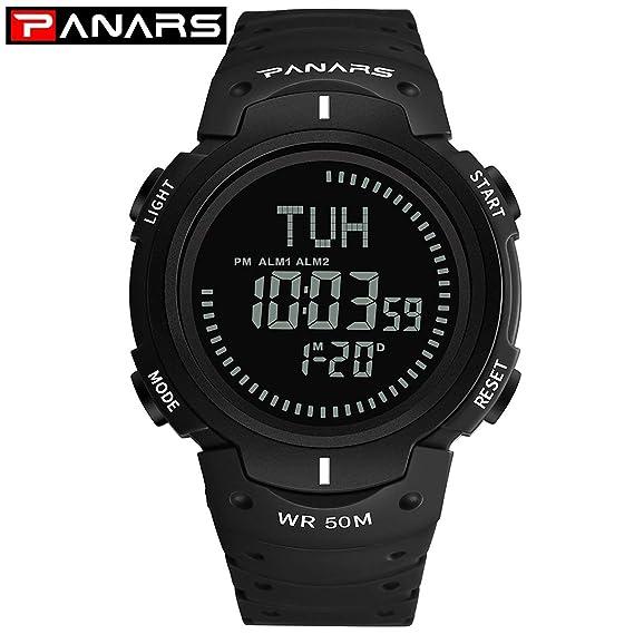Brújula Digital Relojes Hombres Nadar Impermeable Deporte Militar Reloj Hombres Reloj al Aire Libre Reloj de Pulsera Masculino: Amazon.es: Relojes