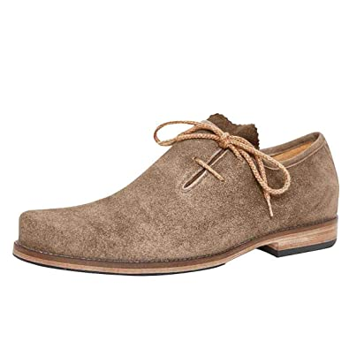 d88c46898b129e dirndl + bua Herren Trachten-Schuhe Haferlschuh Josef in Beige, Farbe:Beige,