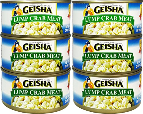 Lump Crab Meat, Wild Caught (Pack of 6), 6 oz Can - Geisha