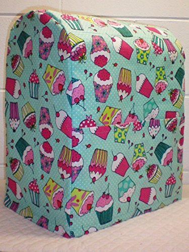 Cupcake Kitchenaid Lift Bowl Stand Mixer Cover (All Teal Cupcake)