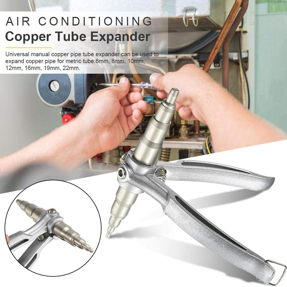 Air Conditioning Refrigeration System Copper Tube Expander Tool,Manual Expansion Tool CHUWUJU Air Conditioning Copper Tube Expander Universal Refrigeration Copper Tube Forged Expander