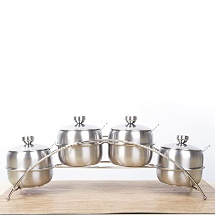 Organizador especias de cocina Tarros especias Organizadores de cocina Dispensador especias De acero