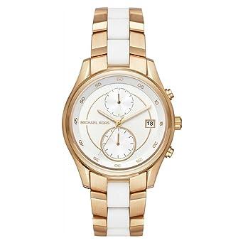 Michael korsbriar – Chronograph – gold-coloured White  Amazon.de  Uhren d04952eb45