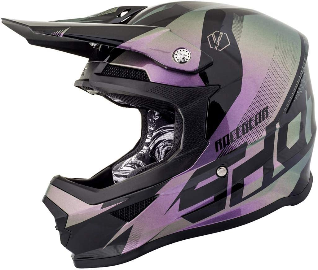 Rose//Violet Clair Taille S SHOT Casque Cross Furious Ultimate Chameleon