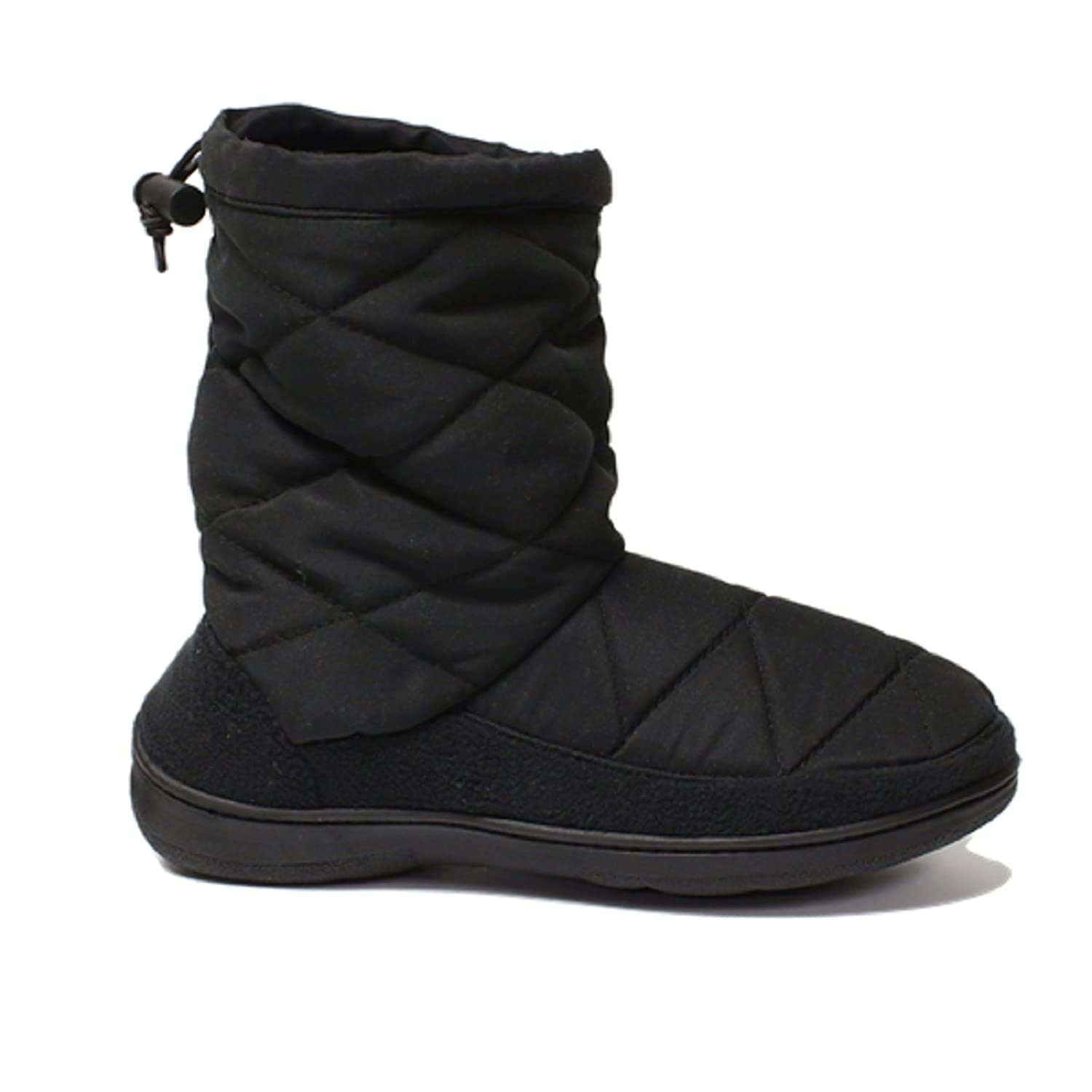 Dearfoams QUILTED NYLON BOOT 50485 Black