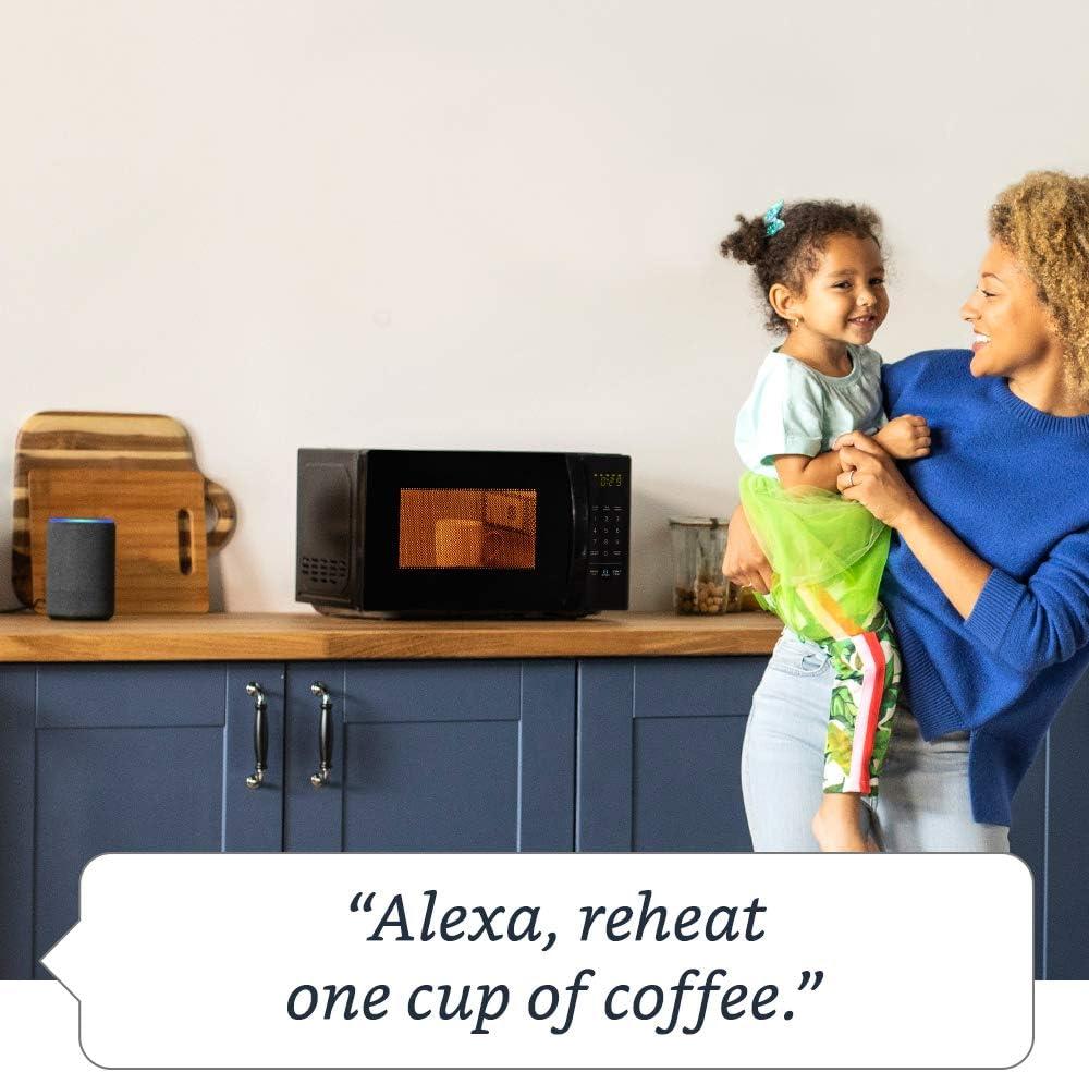 Basics Microwave, Small, 0.7 Cu. Ft, 700W, Works with Alexa