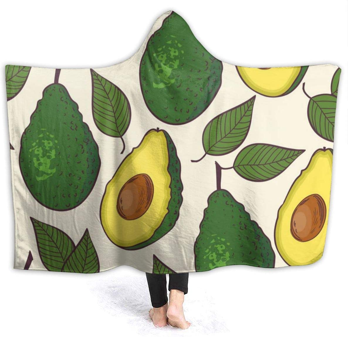 Arrisum Avocado Greem Nature Green Cute Simple Super Soft Flannel Throw Blanket for Adult and Kids Digital Printed Ultra-Soft Micro Fleece Blanket 50X40 for Kids