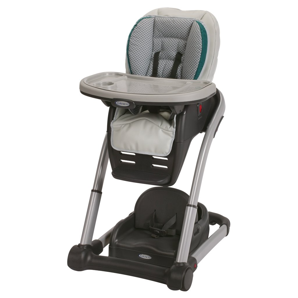 Graco Blossom 4-in-1 Convertible High Chair Seating System, Sapphire by Graco (Image #1)
