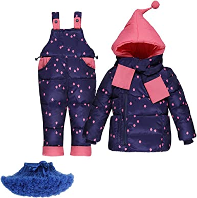 M/&A Newborn Baby Girls Cartoon Down Romper Winter Coat Warm Snowsuit