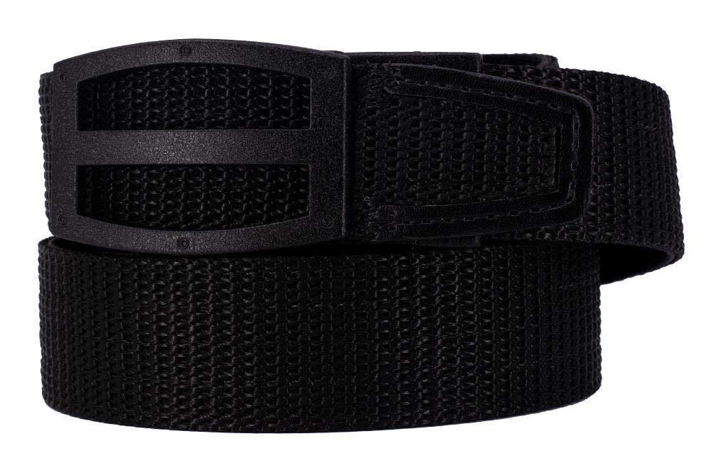Nexbelt 2019 Titan Black Men's EDC Tactical Belt Ratchet System Technology Mens Nylon Gun Belts by Nexbelt (Image #1)