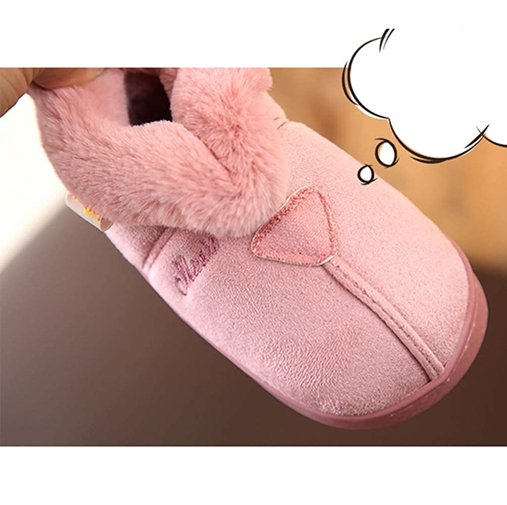 LGXH Little Kid Indoor Winter Warm House Slippers Comfy Cotton Slip-On Baby Boys Girls Bedroom Slippers