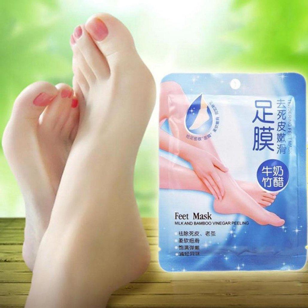 Foot Mask-1Pair Exfoliating Peel Foot Mask Baby Soft Feet Remove Callus Hard Dead Skin ,Tuscom