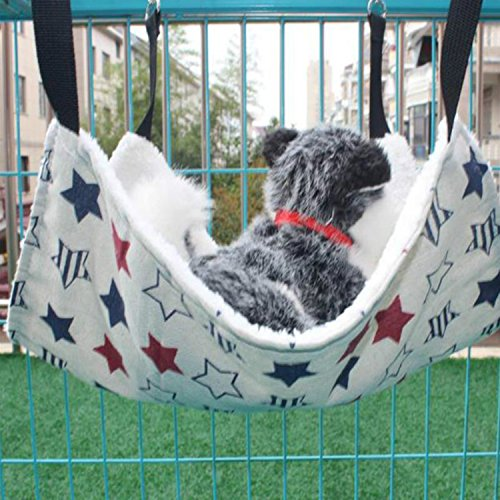 EP(US) Cat Hammock For Ferret, Rat, Rabbit, Small Dogs or Other Pet-Easy to Attach to a Cage-Middle size