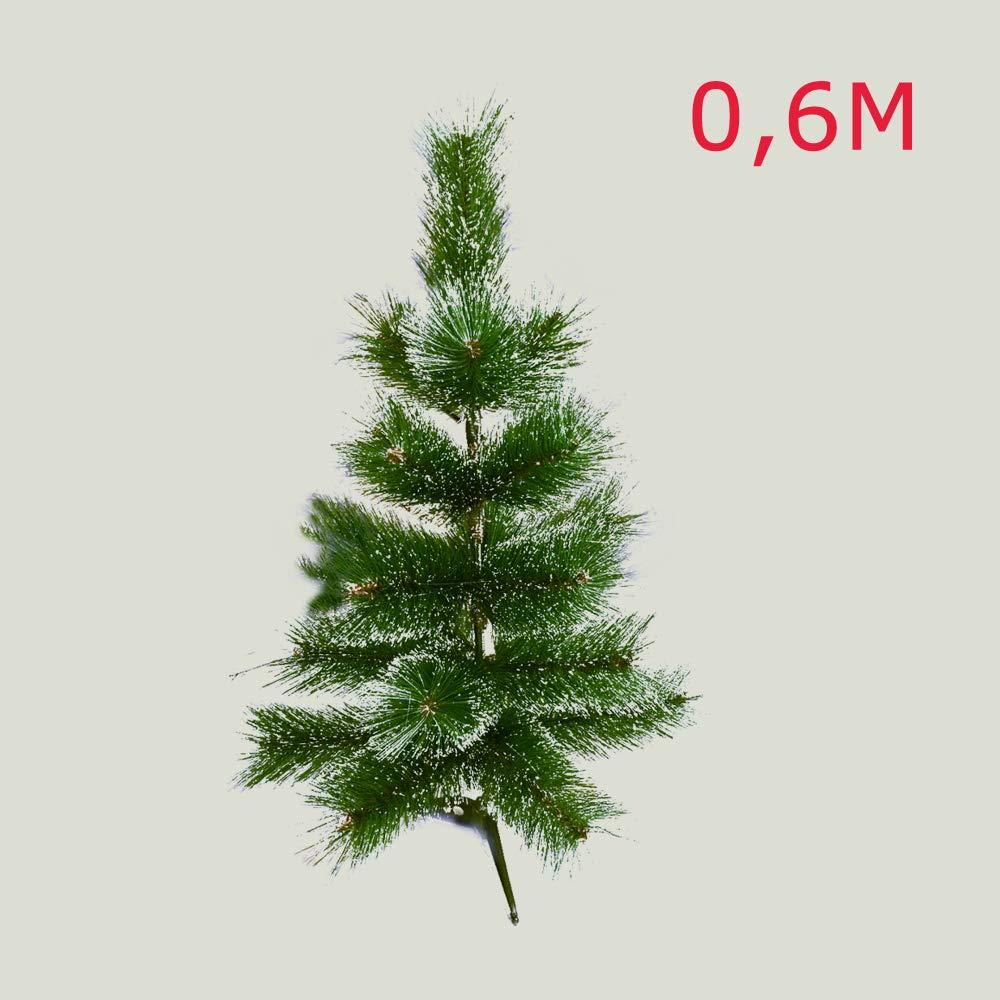 supporto in Plastica HENGMEI 60cm Albero di Natale artificiale PVC Ago di pino Bianca Decorazione di Natale incl