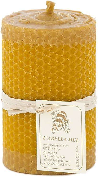 L Abella 100% Cera de Abejas Vela de España – Producto Natural – Directamente Desde el Apicultor – – Aroma de Miel en Mano – 1 Vela con Aprox. 10 cm x 6,5 cm: Amazon.es: Juguetes y juegos