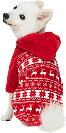 Blueberry Pet Ugly Christmas Holiday Reindeer & Snowflake Dog Fleece Sweater, Hoodie, Snood