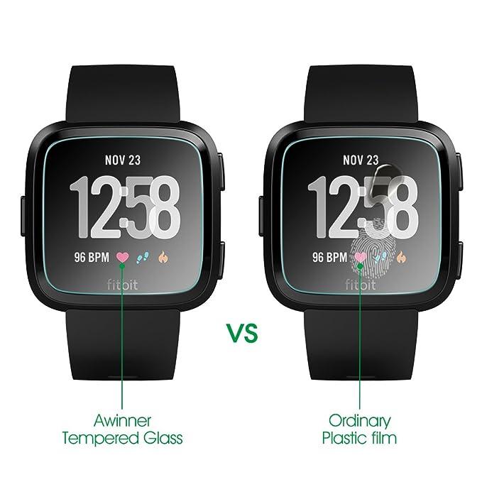 AWINNER - Protector de pantalla de cristal templado para Fitbit ...
