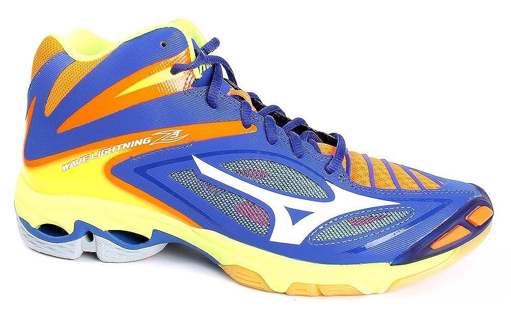 Orange-bleu Marine-jaune 50 EU Mizuno Wave lumièrening Z3 Mid, Chaussures de Volleyball Homme