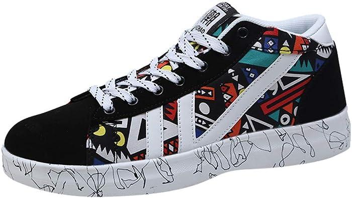 Sayla Zapatos Zapatillas para Hombres Casual Moda Verano Skateboarding Zapatillas Altas con Cordones Zapatillas Deporte Running Clasicas CóModas Calzado Andar Zapatos: Amazon.es: Zapatos y complementos