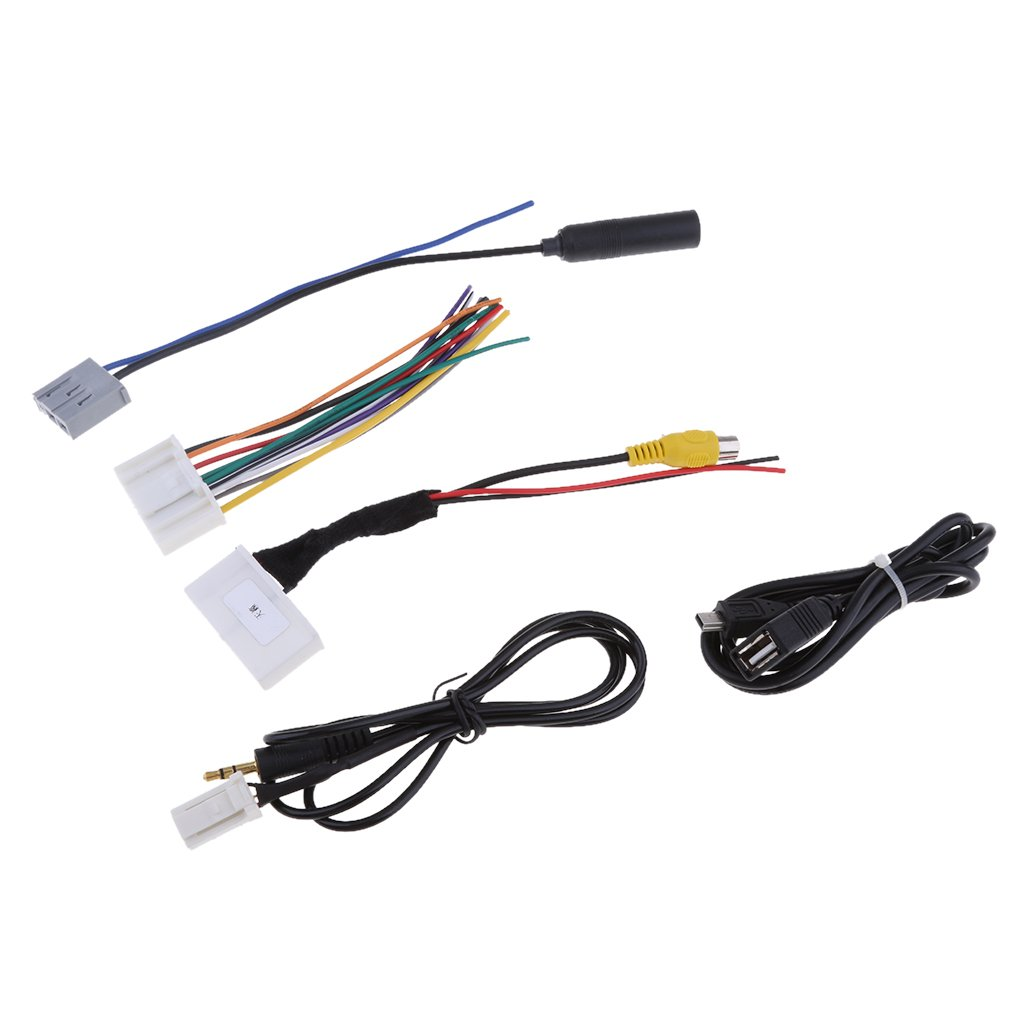 anbau car audio 5 cables kit stereo wiring harness wire accessories for  teana qashqai easy installation: amazon.in: car & motorbike  amazon.in