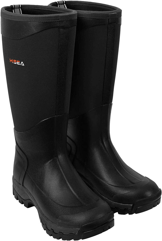 Hisea Men's Snow Boots Durable 6mm