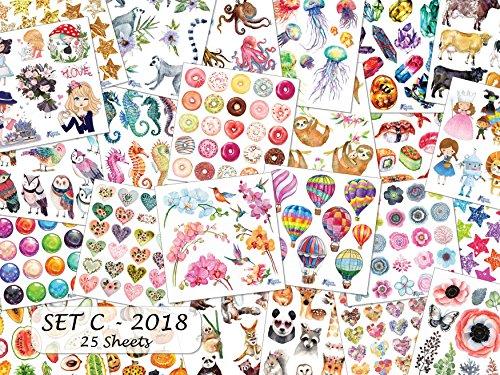 Violette Stickers Set C Sticker Collection - 25 Sheets ()
