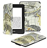 OMOTON Kindle Paperwhite Case Cover Fits All versions: 2012, 2013 and 2015 All-new 300 PPI Versions, Black Gray Map