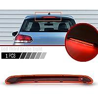 1 x trzecia światło stopu, światło tylne, czerwone LED, kompatybilne z VW MK5 MK6 Golf Hatch Plus Variant P-assat B6 B7…