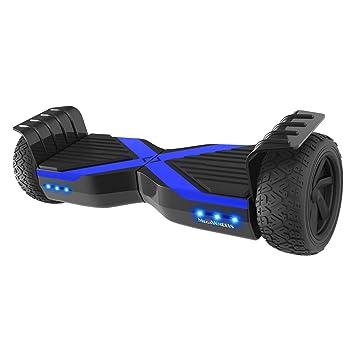 M MEGAWHEELS Hoverboard 8.5 Pulgadas, Patinete electrico con Bluetooth - Motor eléctrico 600w, Velocidad 10-15 Km/h.(Black-Blue)
