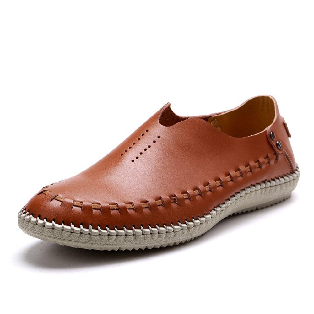 Oxford Sommer Herren Sandalen Hohl Atmungsaktive Herrenschuhe Leder Komfort Füße Freizeitschuhe