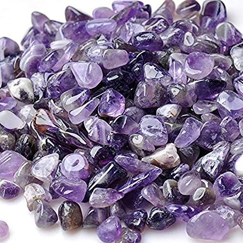 Purple Gravel - Wayber Decorative Rocks, 0.9 Lb/410g Purple Pebble Rock Crystal Sands for Aquarium Fish Turtle Tank Decoration/Bonsai Succulent Plants Ornament/Bottom Landscape, Amethyst (Fills 1 Cup)