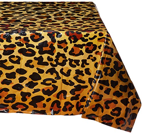 Beistle 57850 Leopard Print Tablecover, 54 by 108-Inch -