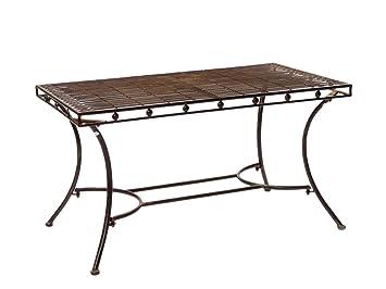 Amazon.de: Nostalgie Gartentisch Garten Eisen Tisch Loungetisch ...